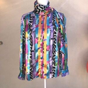 Vintage Anastasia Blouse with a attached scarf
